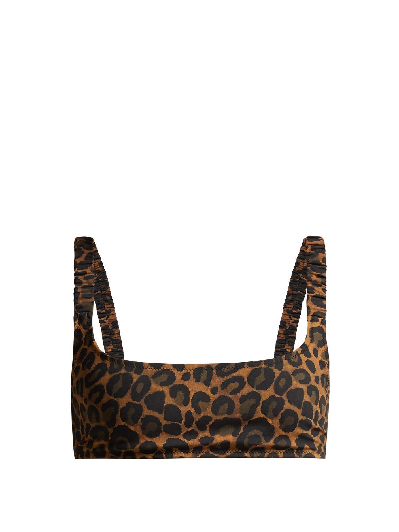 Colombier Leopard-Print Bikini Top