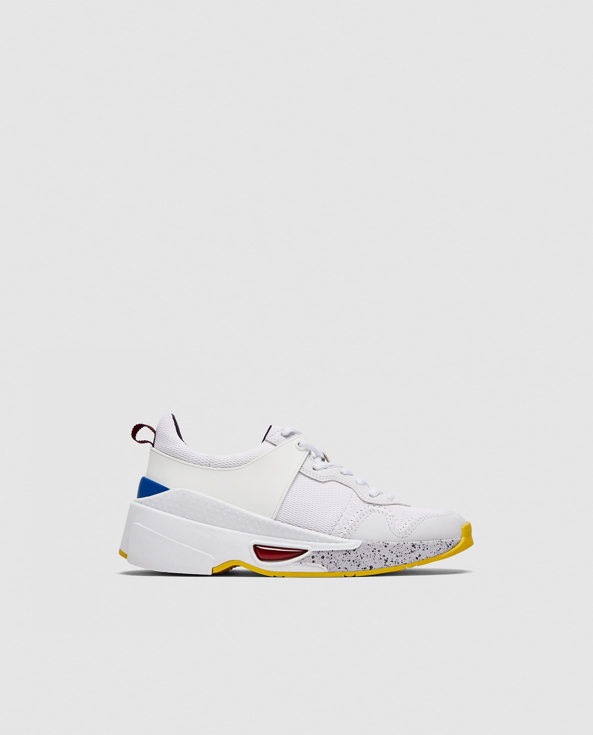 Zara + Contrasting Chunky Sole Sneakers