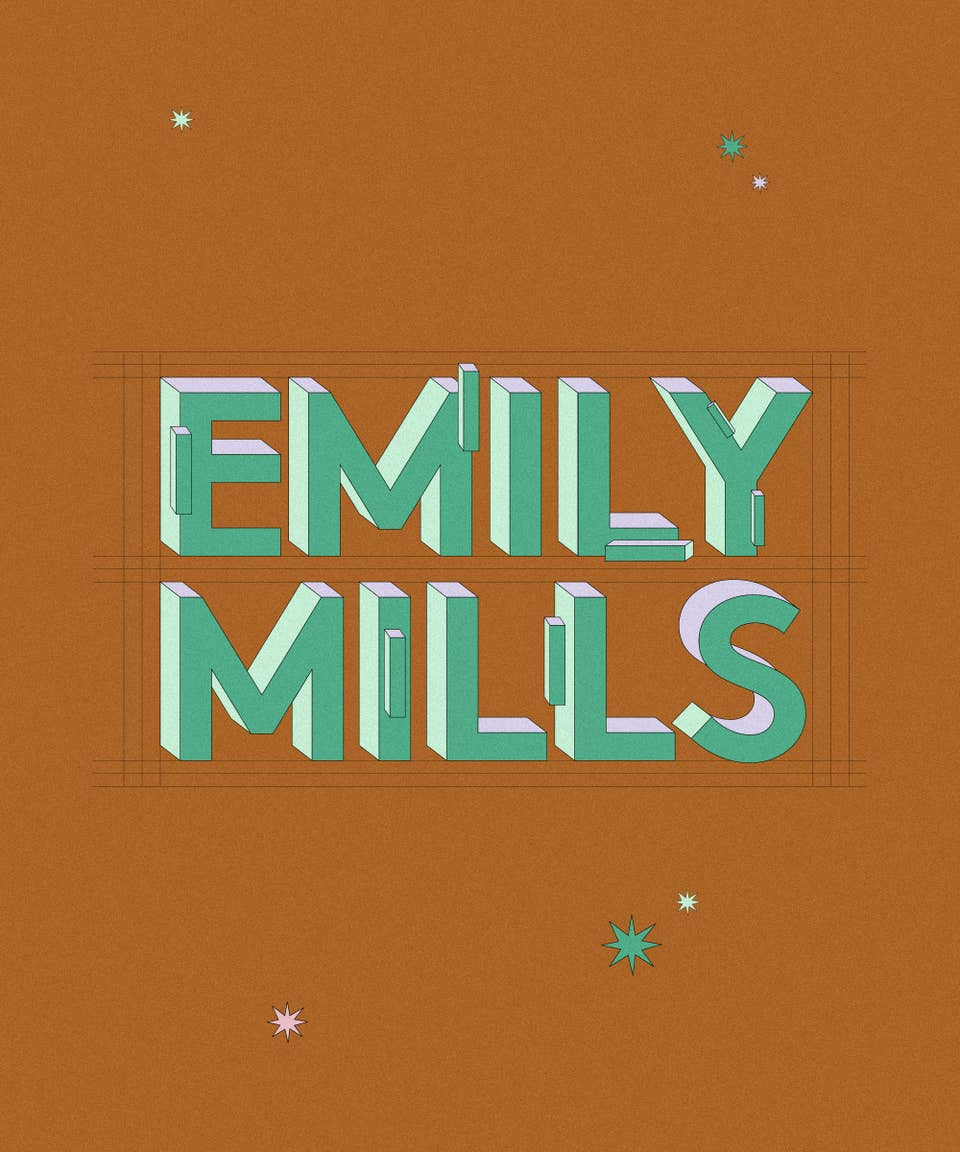 Graphic of the name Emily Mills