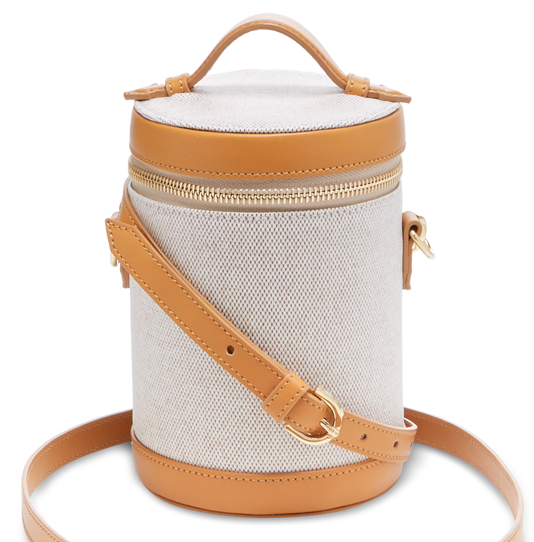 Clearance Discount Crossbody Capsule Leather-trimmed Canvas Shoulder Bag - Tan Paravel The Cheapest 2018 Newest 13I8Y