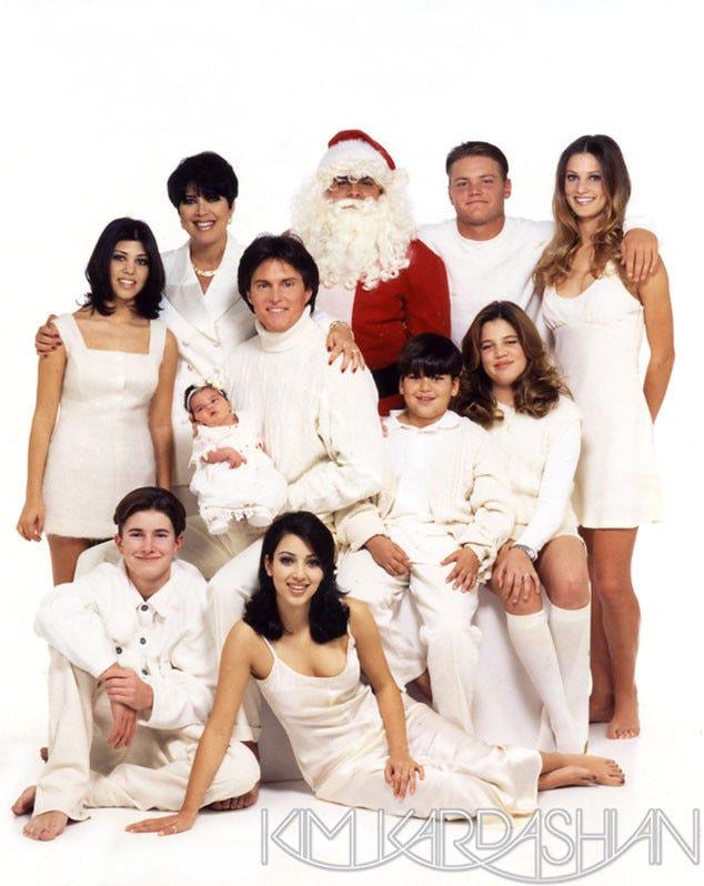 Kardashian Christmas Card Through The Years Photos 2017