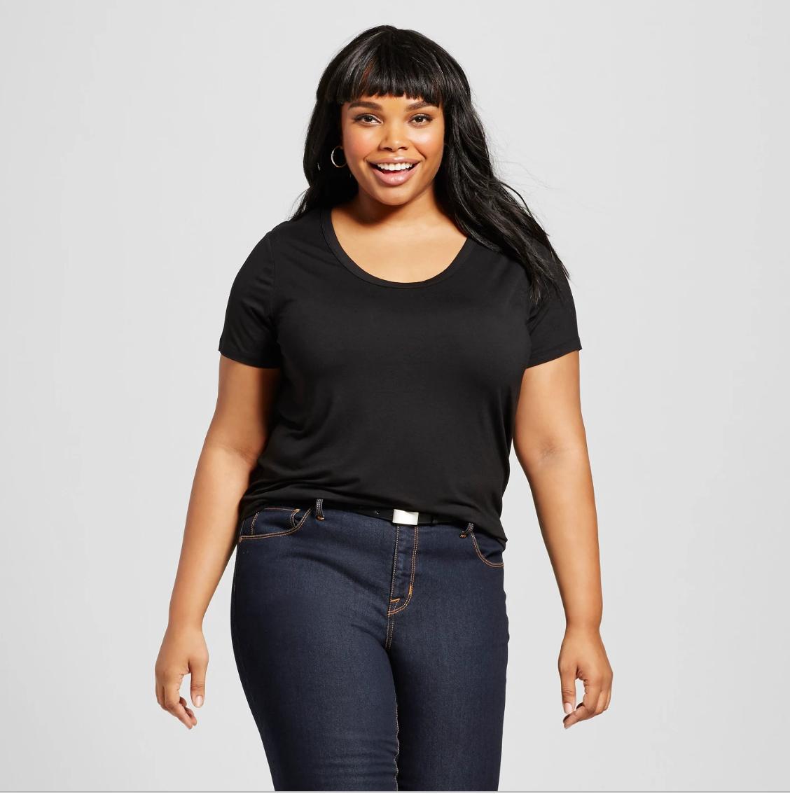 b0d5818f2e0e7 Ava & Viv + Women's Plus Size Perfect Short Sleeve T-Shirt - Ava & Viv™