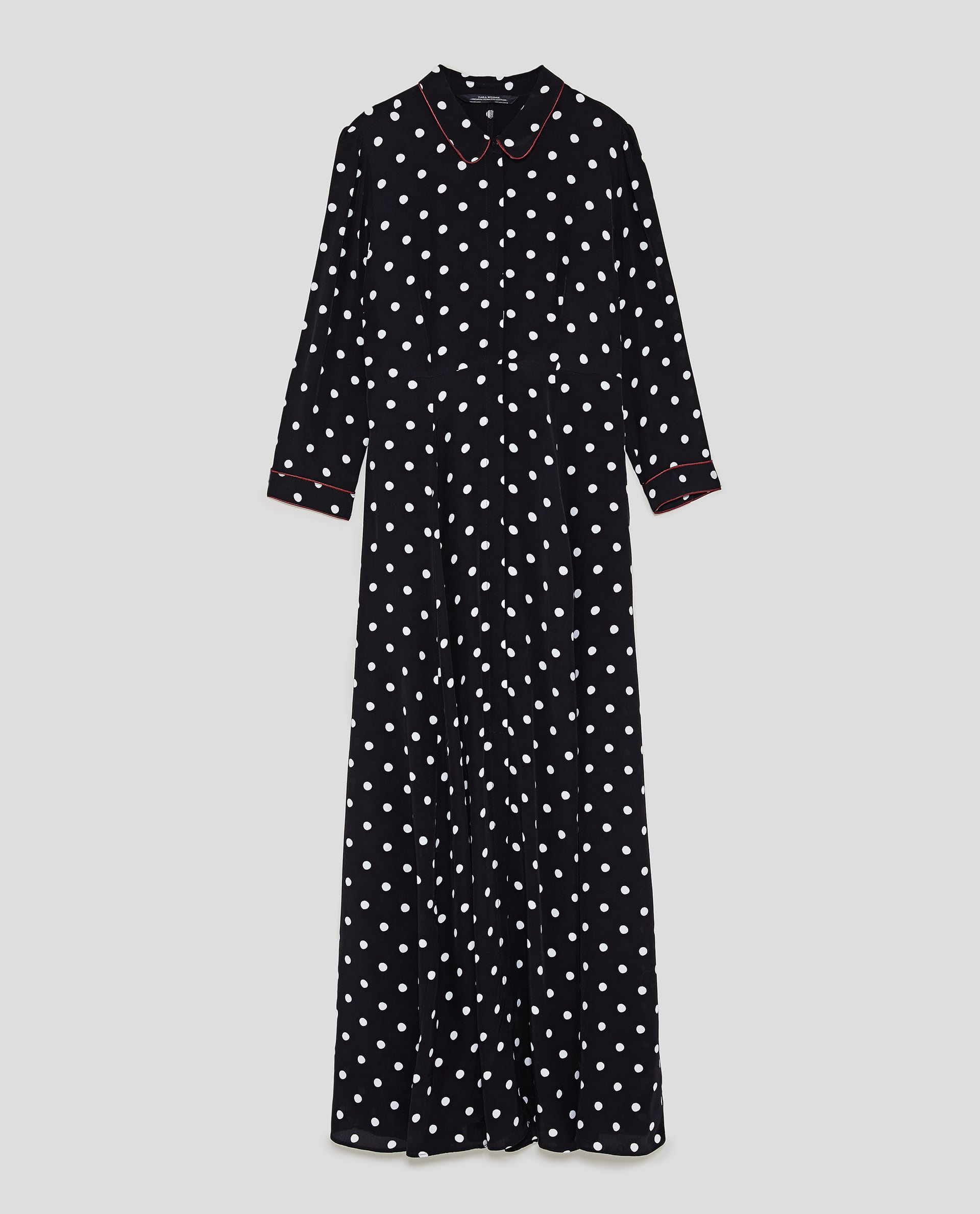 102f63b6 Zara + Long Polka Dot Dress