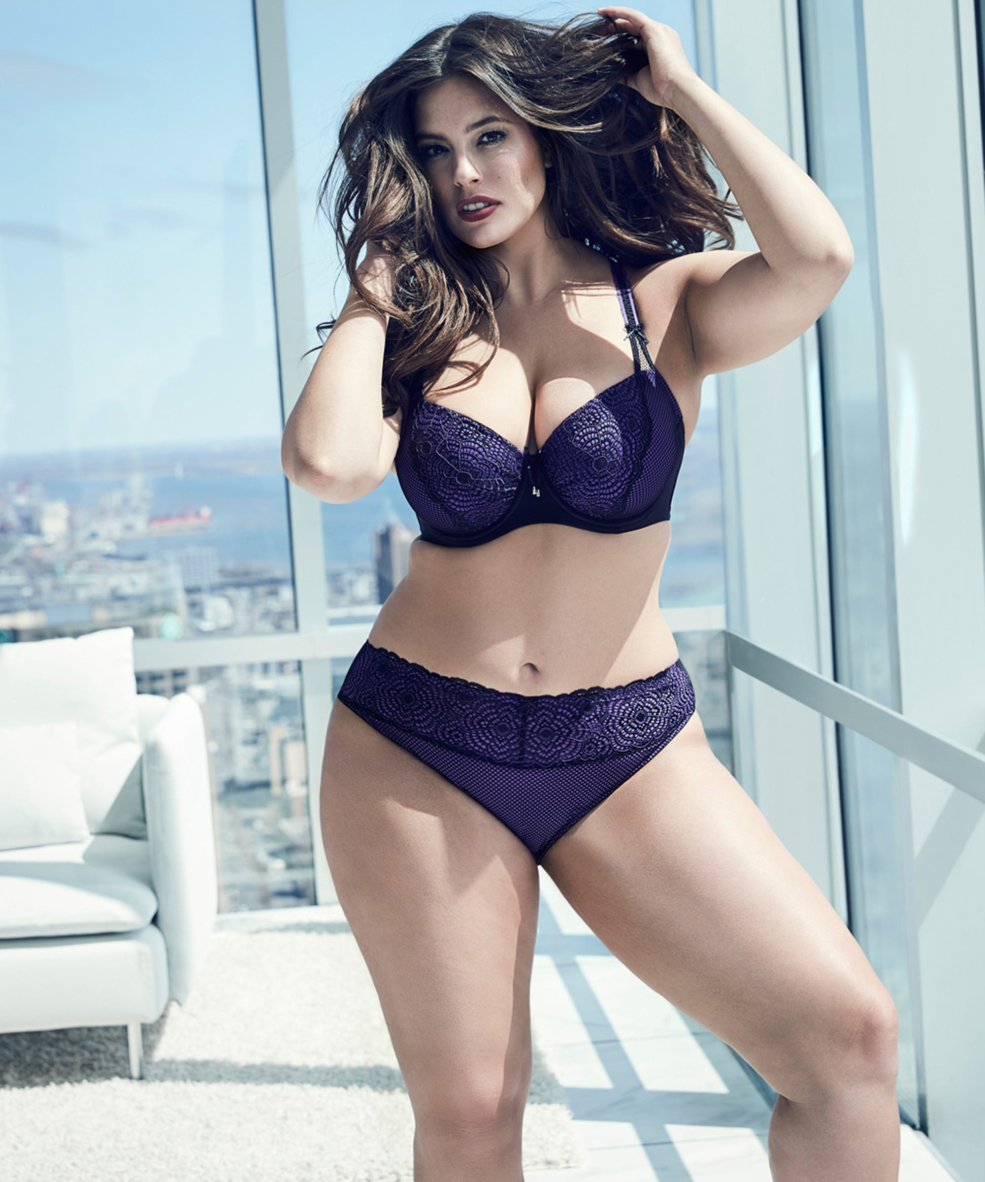 Ashley Graham Plus Size Diva Bra with Web Lace