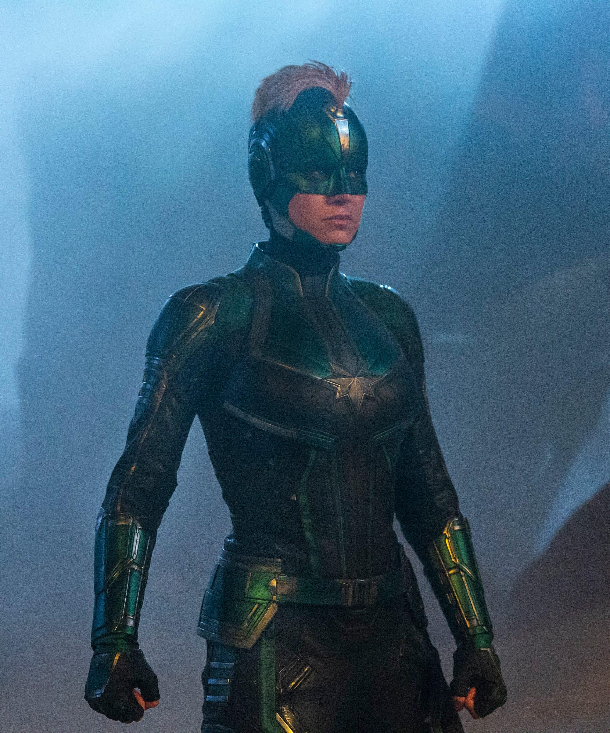 Brie Larson Retro Hair Transformation In Captain Marvel