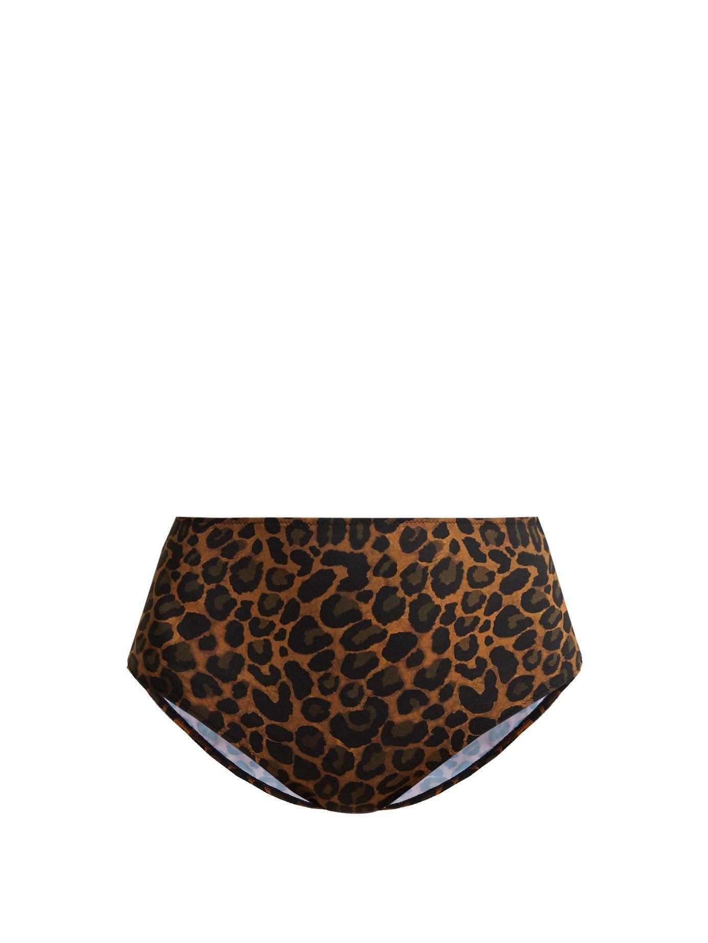 Gouverneur High-Waist Leopard-Print Bikini Briefs