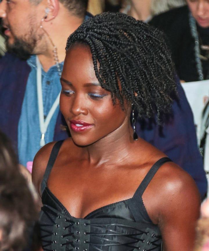 Lupita Nyong O Gets Side Twists Like Erik Killmonger