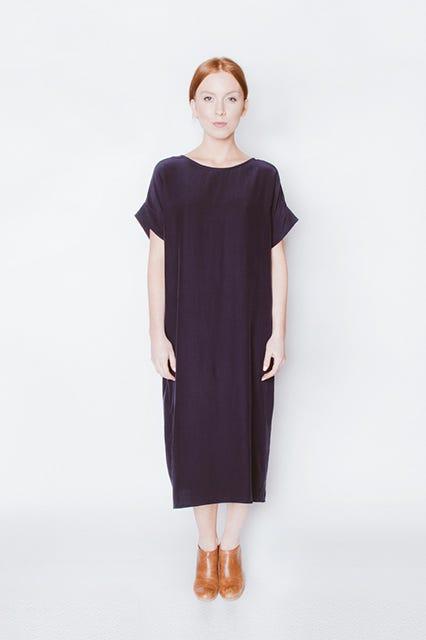 abacc341c0f Universal Standard for J.Crew + Cupro Tunic Dress