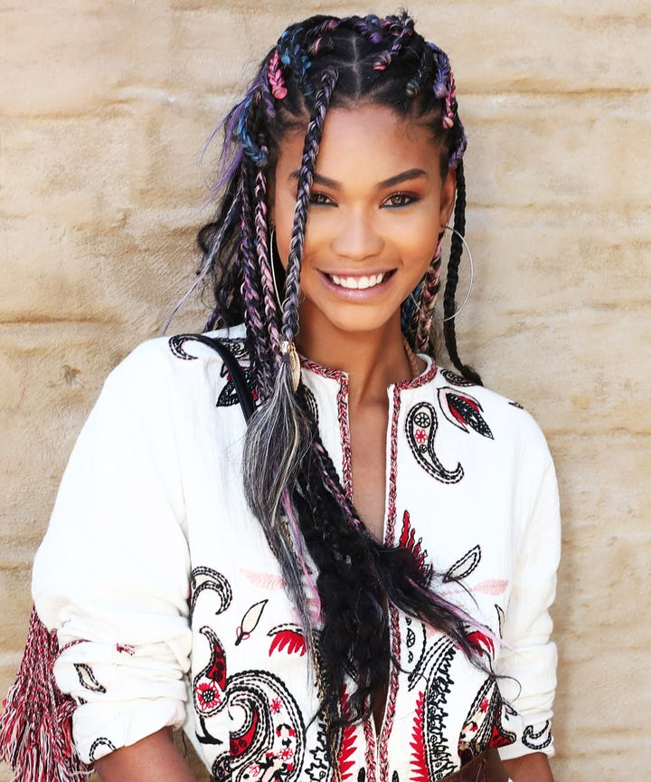 triangle braids box braids hair trend teyana taylor