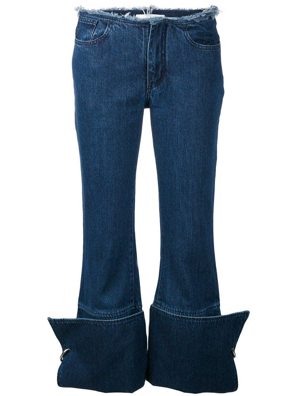 turnover denim jeans - Blue Marques Almeida