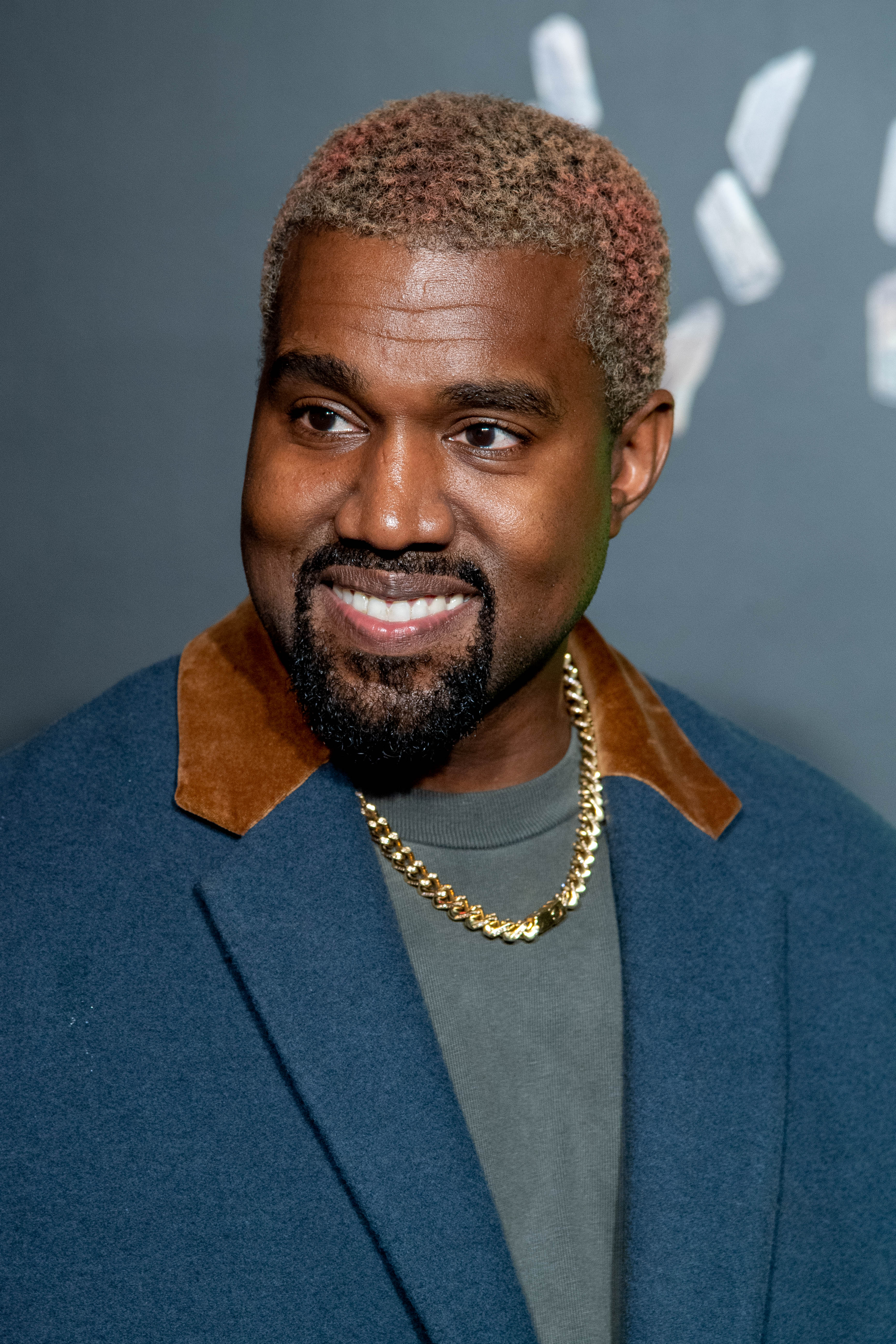 Kanye West Debuts New Rainbow Colored Hair In Calabasas