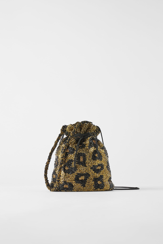 Zara Beaded Bucket Bag
