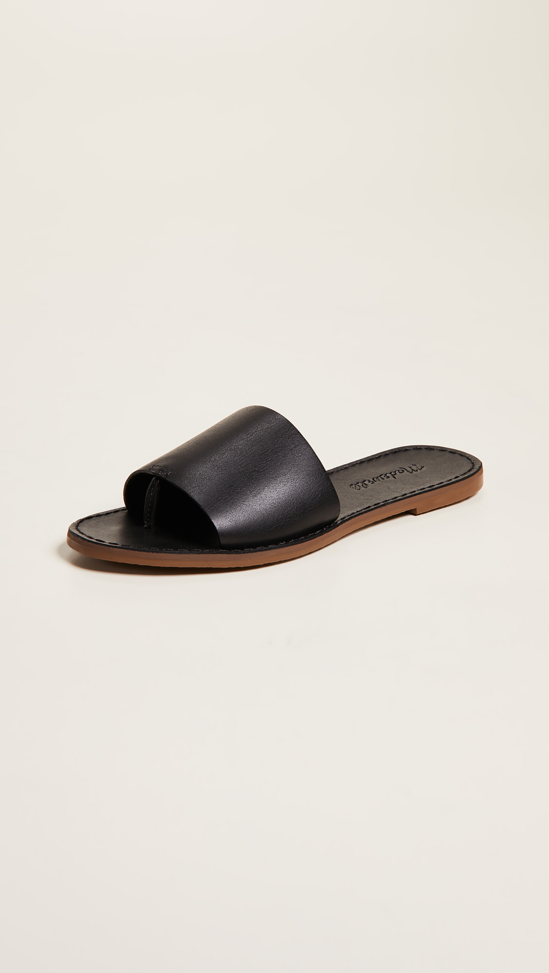 78a84404241 Madewell + The Boardwalk Post Slide Sandals