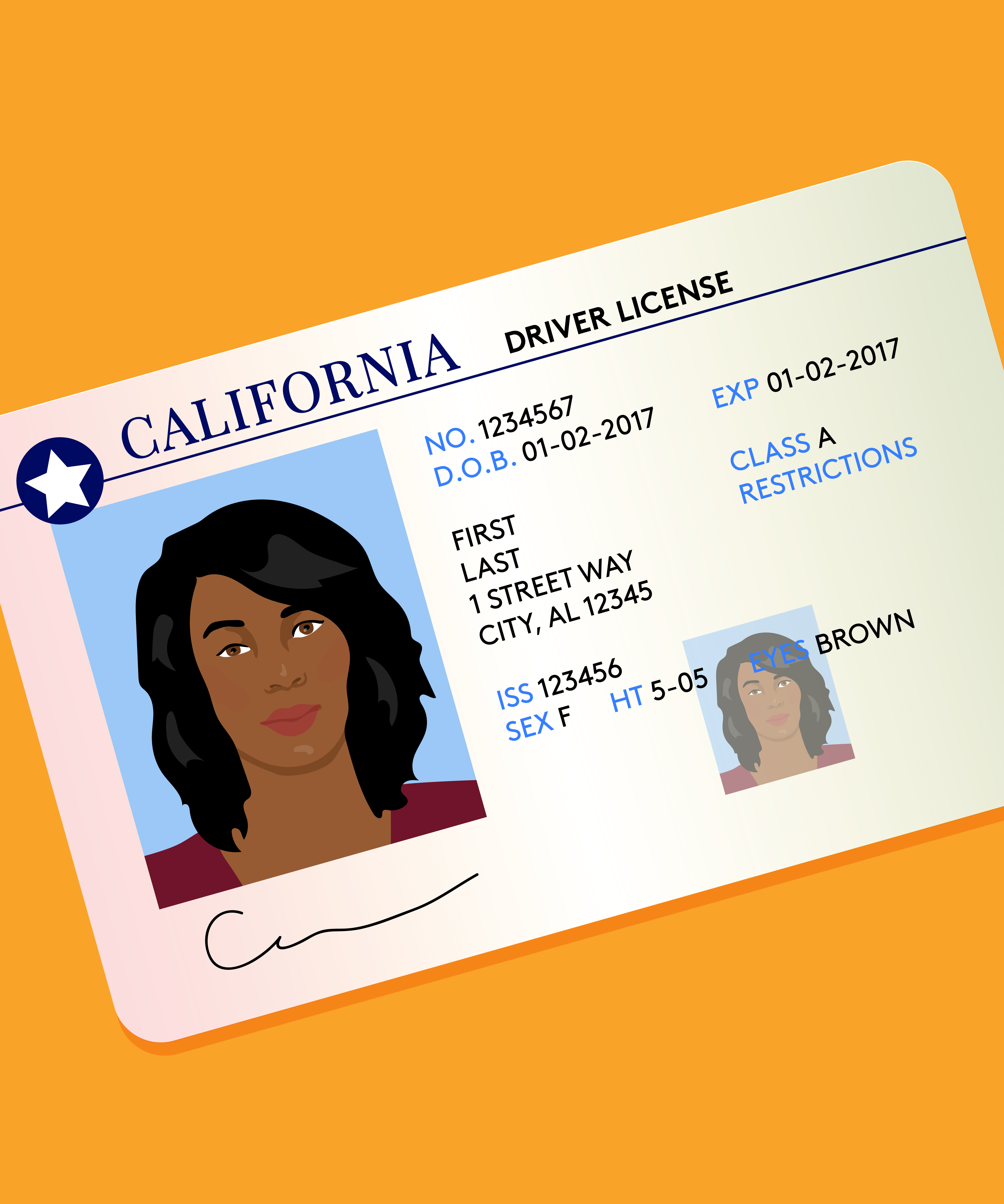 Good Drivers License Photo