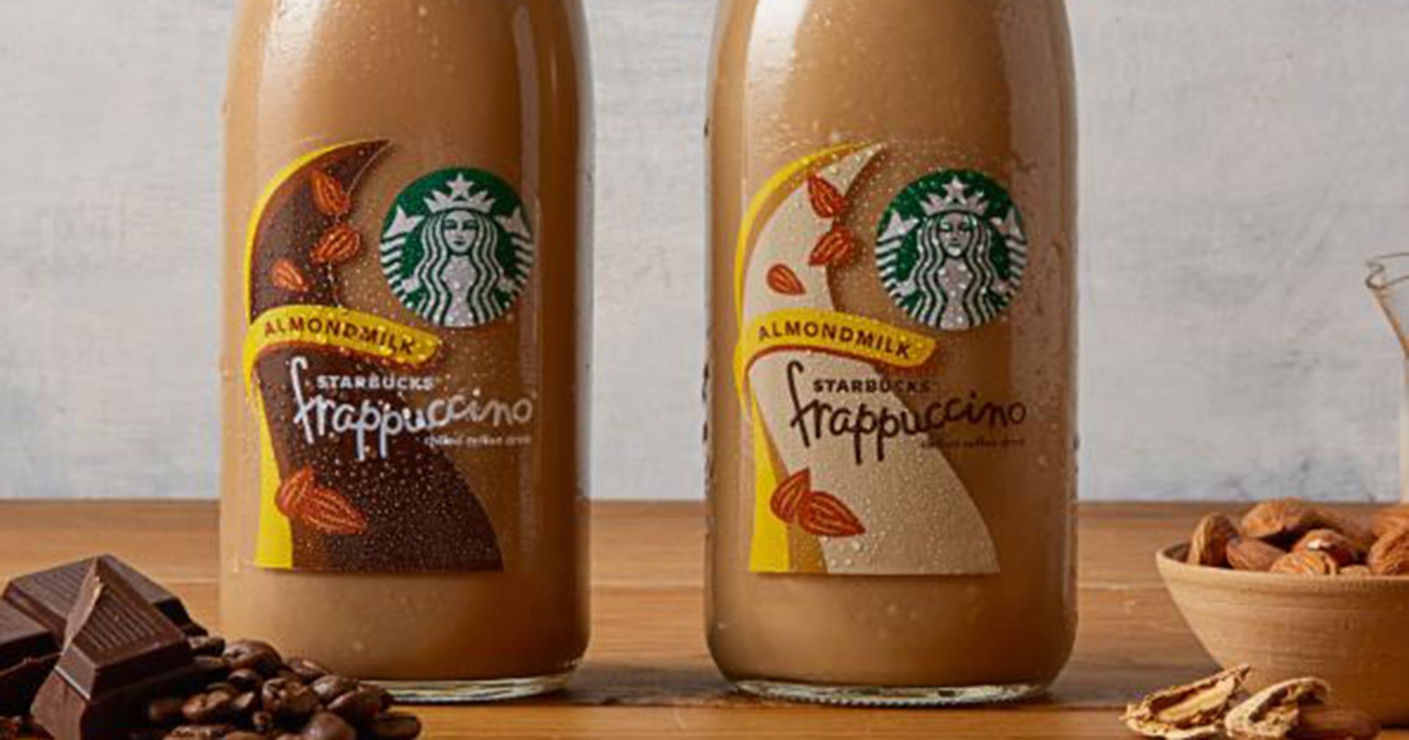 Starbucks Bottled Almond Milk Frappuccinos