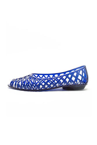 6767f65b9c0c American Apparel + Flat Lattice Jelly Sandal