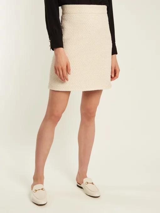 c68d375b6d Gucci + A-Line Tweed Skirt