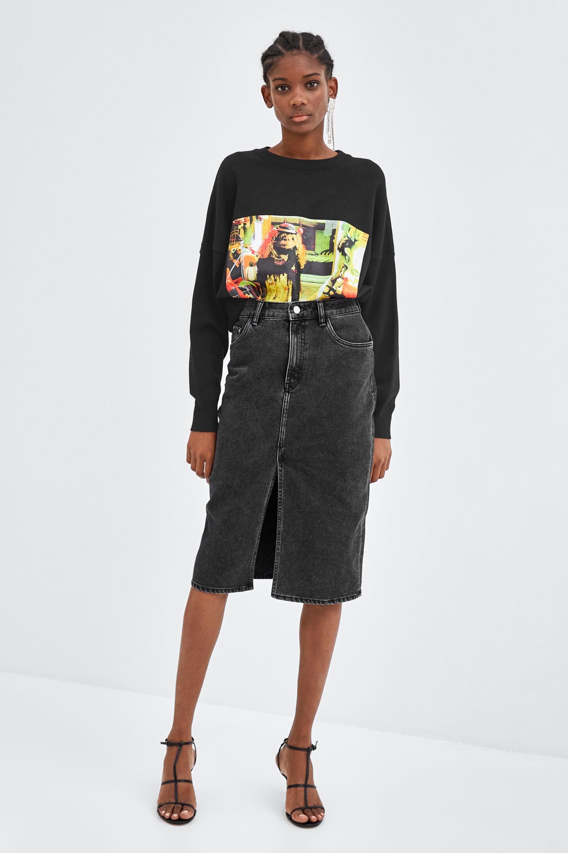 a9a7a44c Zara + Denim Mini Skirt