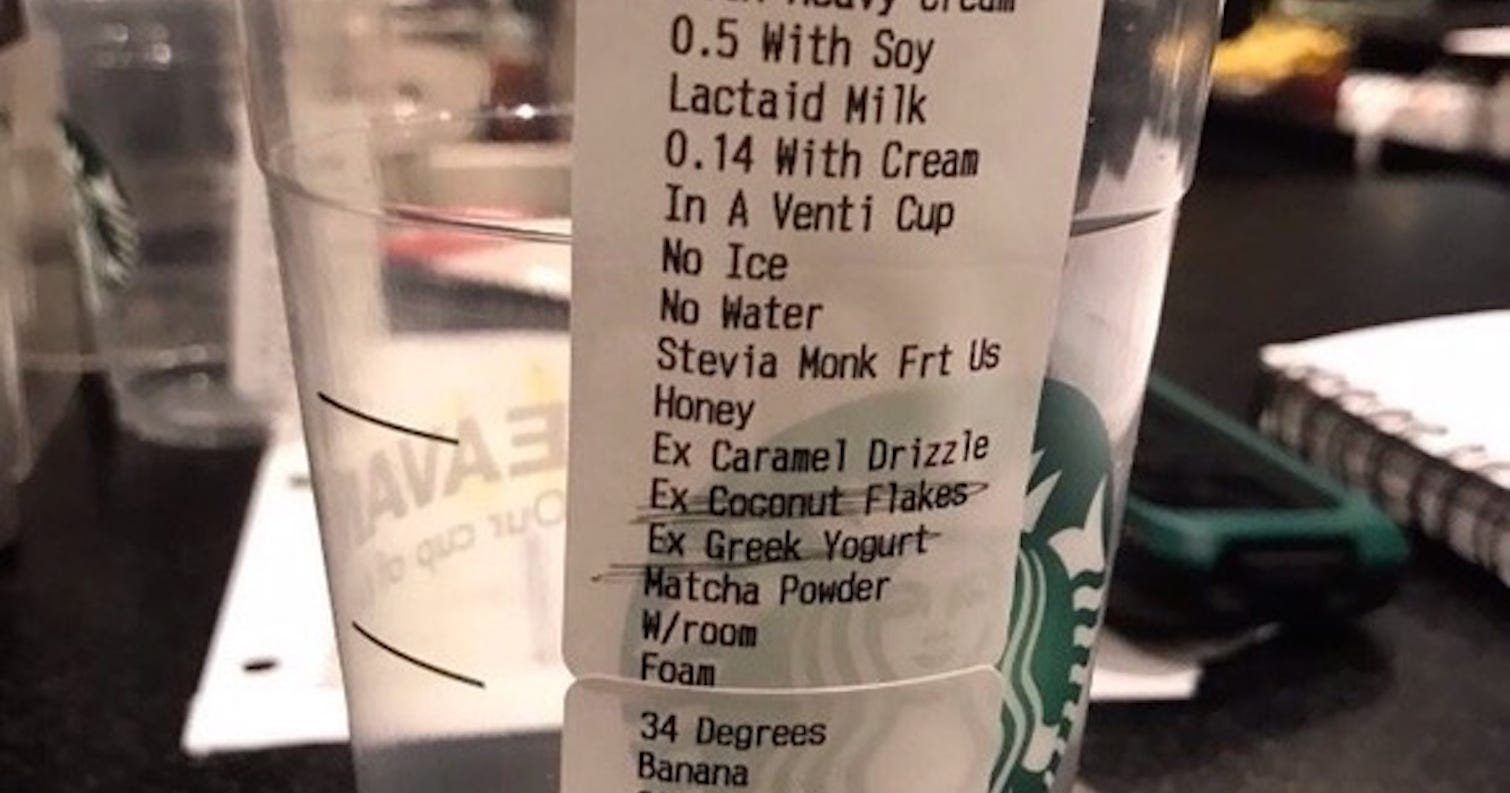 What Is The Most Complex Starbucks Drink Order