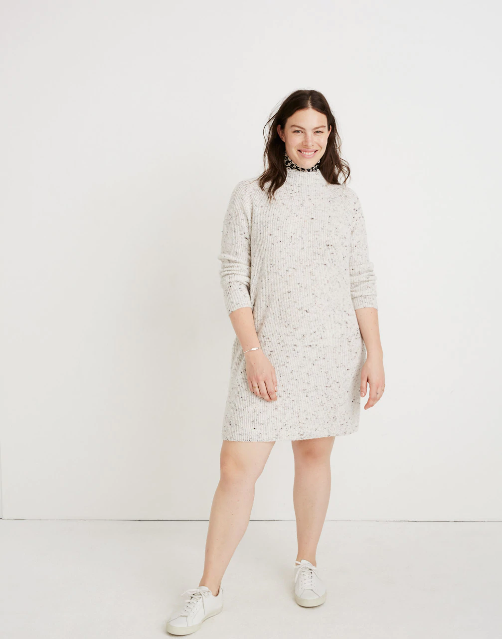 722a3908907 Madewell + Donegal Northfield Mockneck Sweater-Dress
