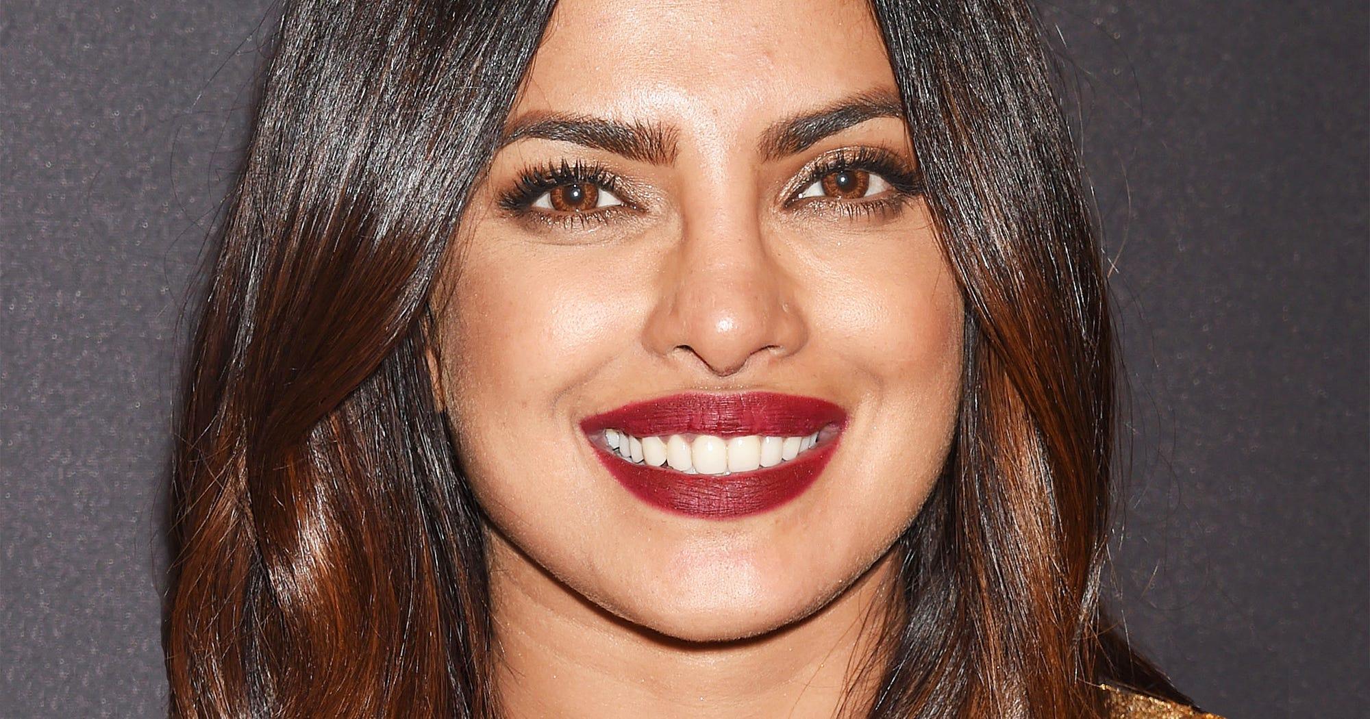 Priyanka Chopra Best Hair Makeup Sleek Hair Smoky Eye