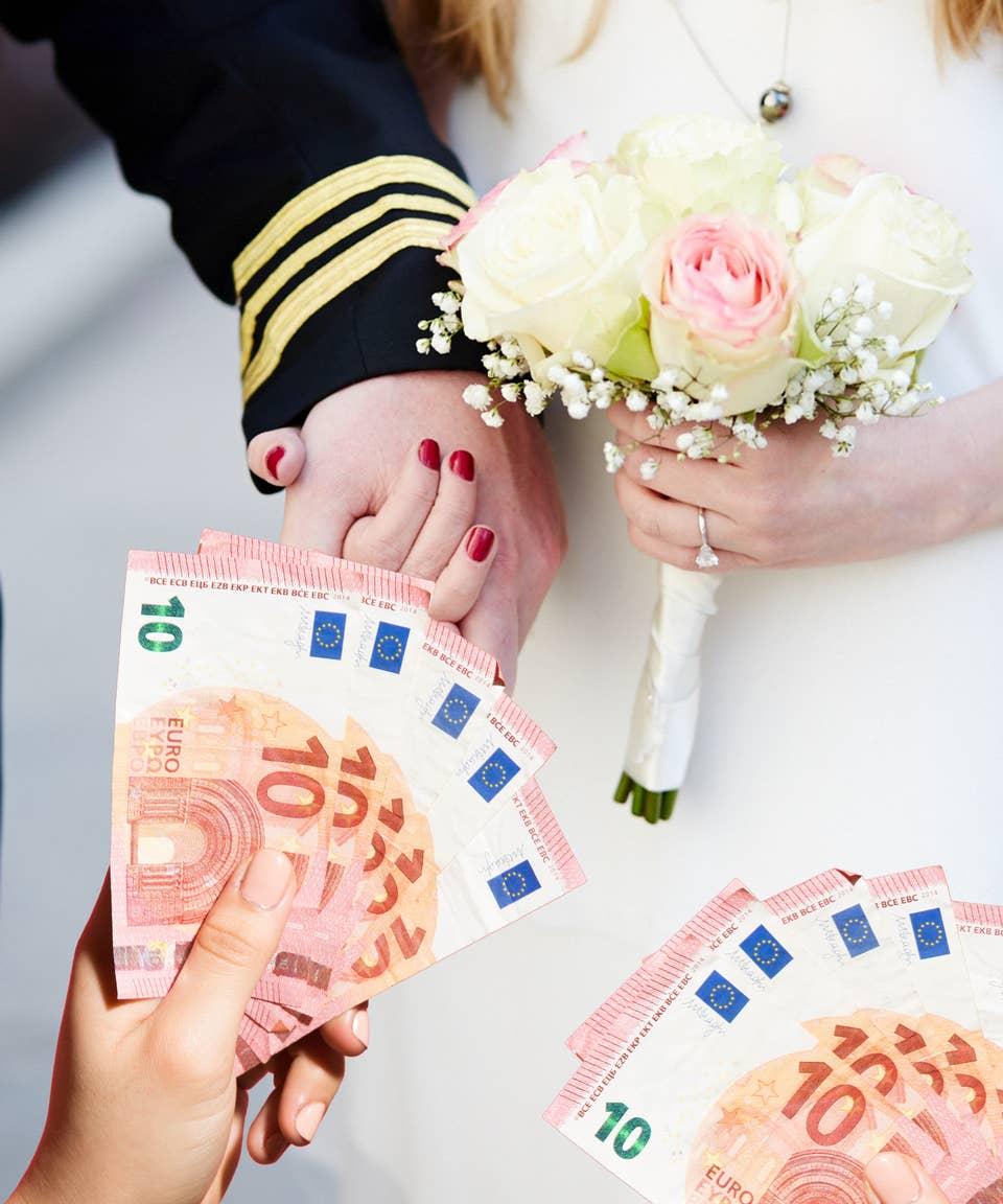 Was zur hochzeit schenken geld