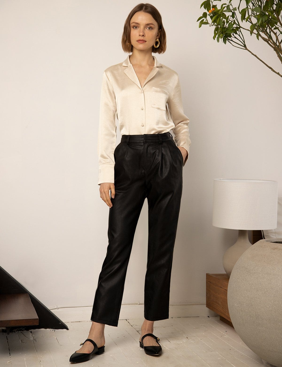 price reduced variousstyles new & pre-owned designer Leather Pants Trend Spring 2019, Vegan & Genuine Option