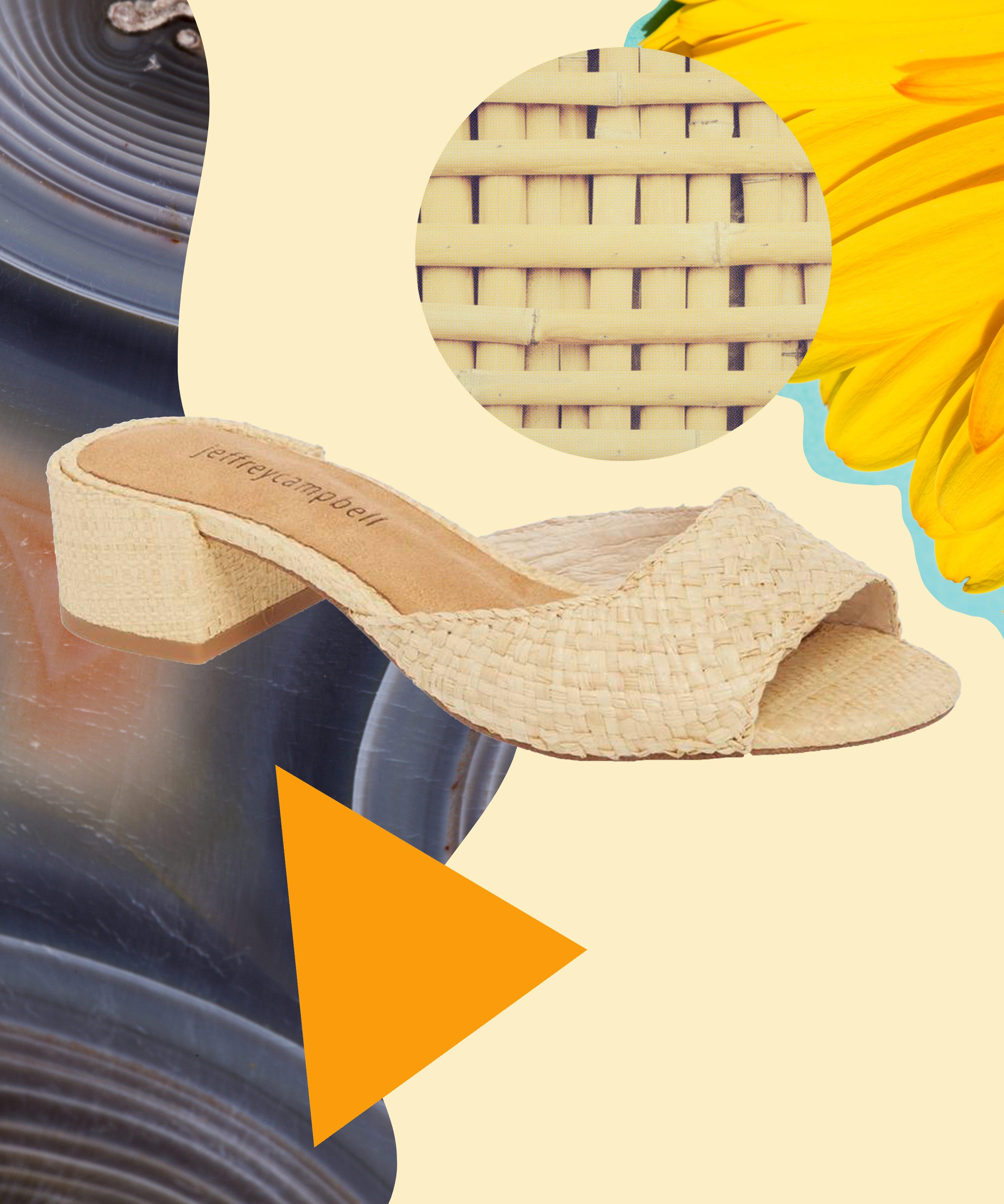 Woven Shoes For Women - Raffia Flats