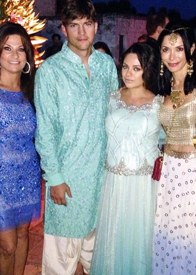 Ashton Kutcher And Mila Kunis Wedding.Ashton Kutcher Mila Kunis Bollywood Wedding Turban