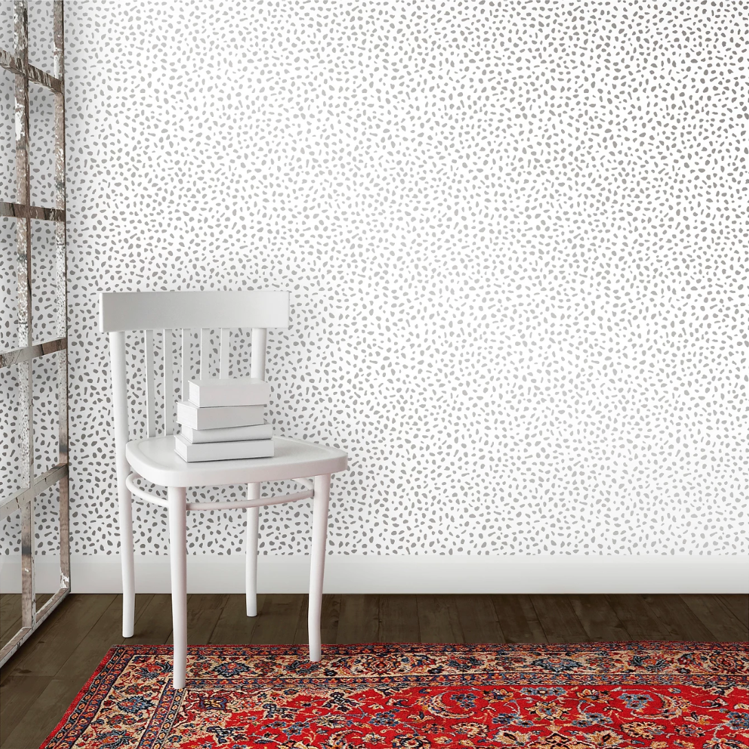Speckled Dot Peel Stick Wallpaper Sterling