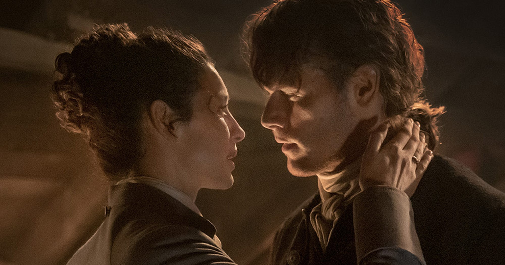 Outlander Claire Jamie Sex Scenes Like Wedding Episode