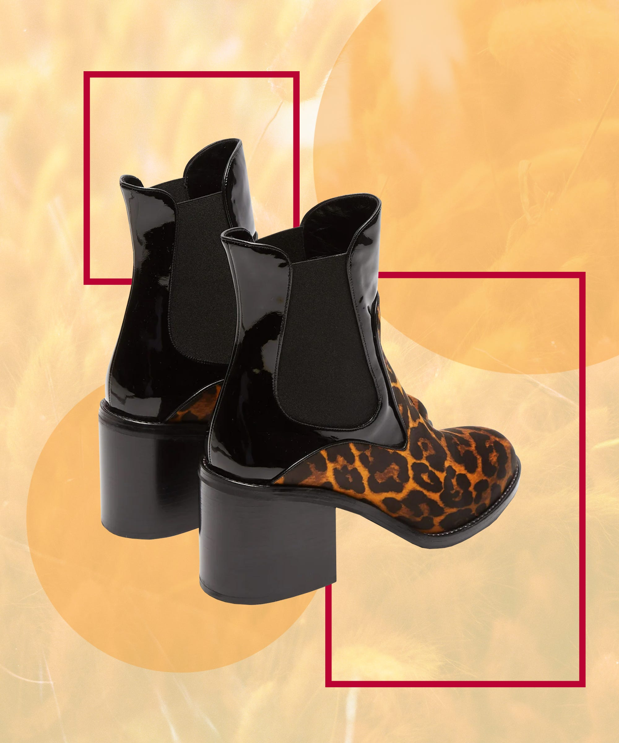 next leopard boots