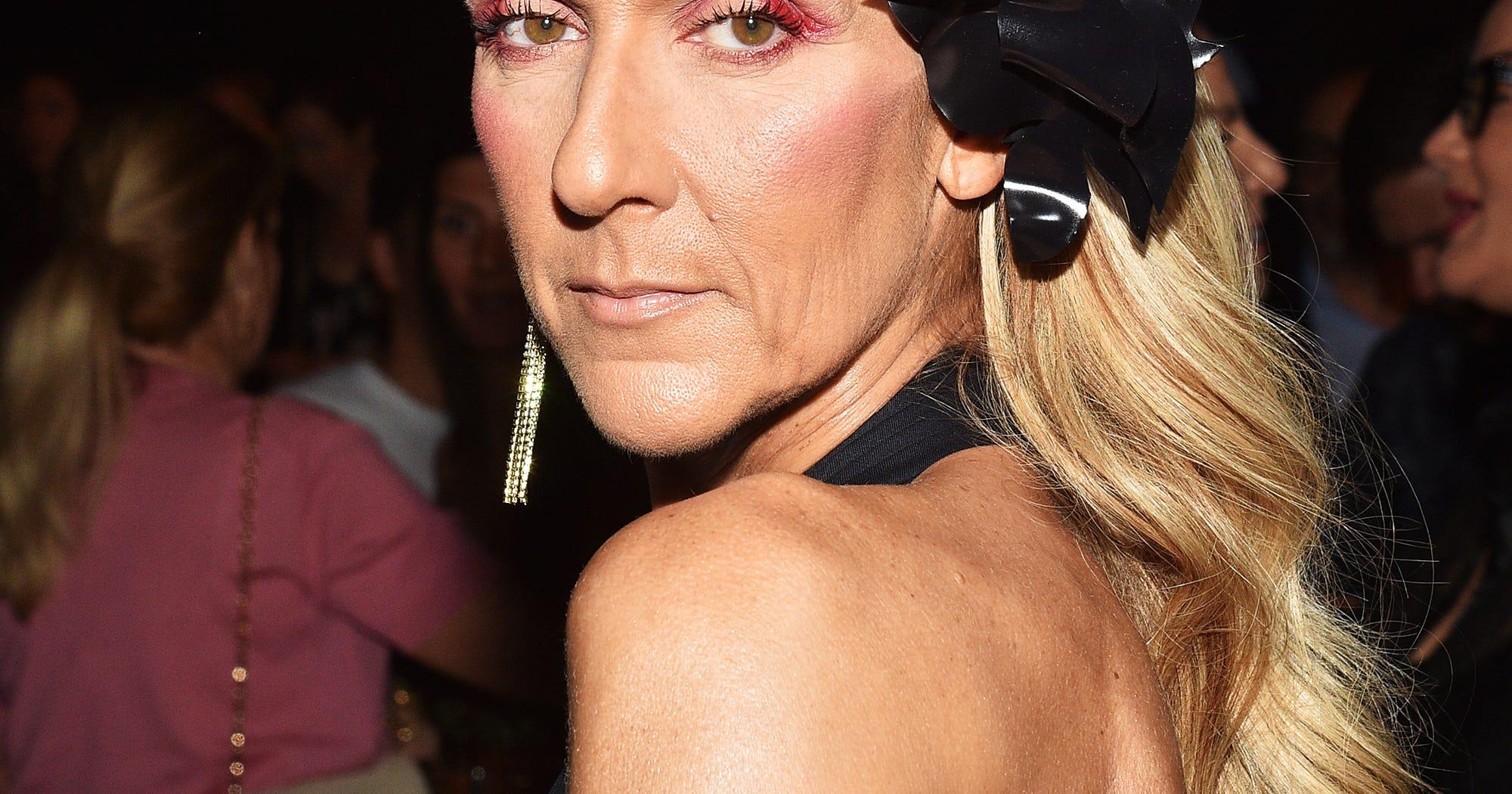 Celine Dion Debuts Dramatic Blunt Bob Haircut In Paris