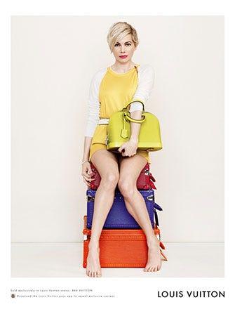 2761092d77ea Michelle Williams Ad - Louis Vuitton Campaign