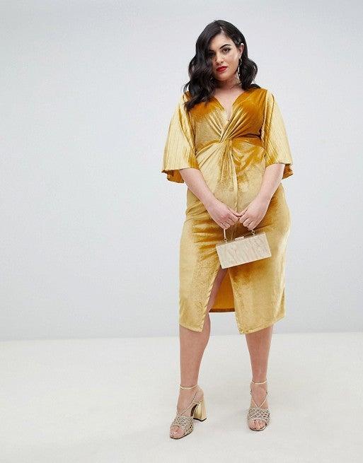 e41a28ef48d Tfnc + Plus Size Sequin Kimono Sleeve Wrap Dress