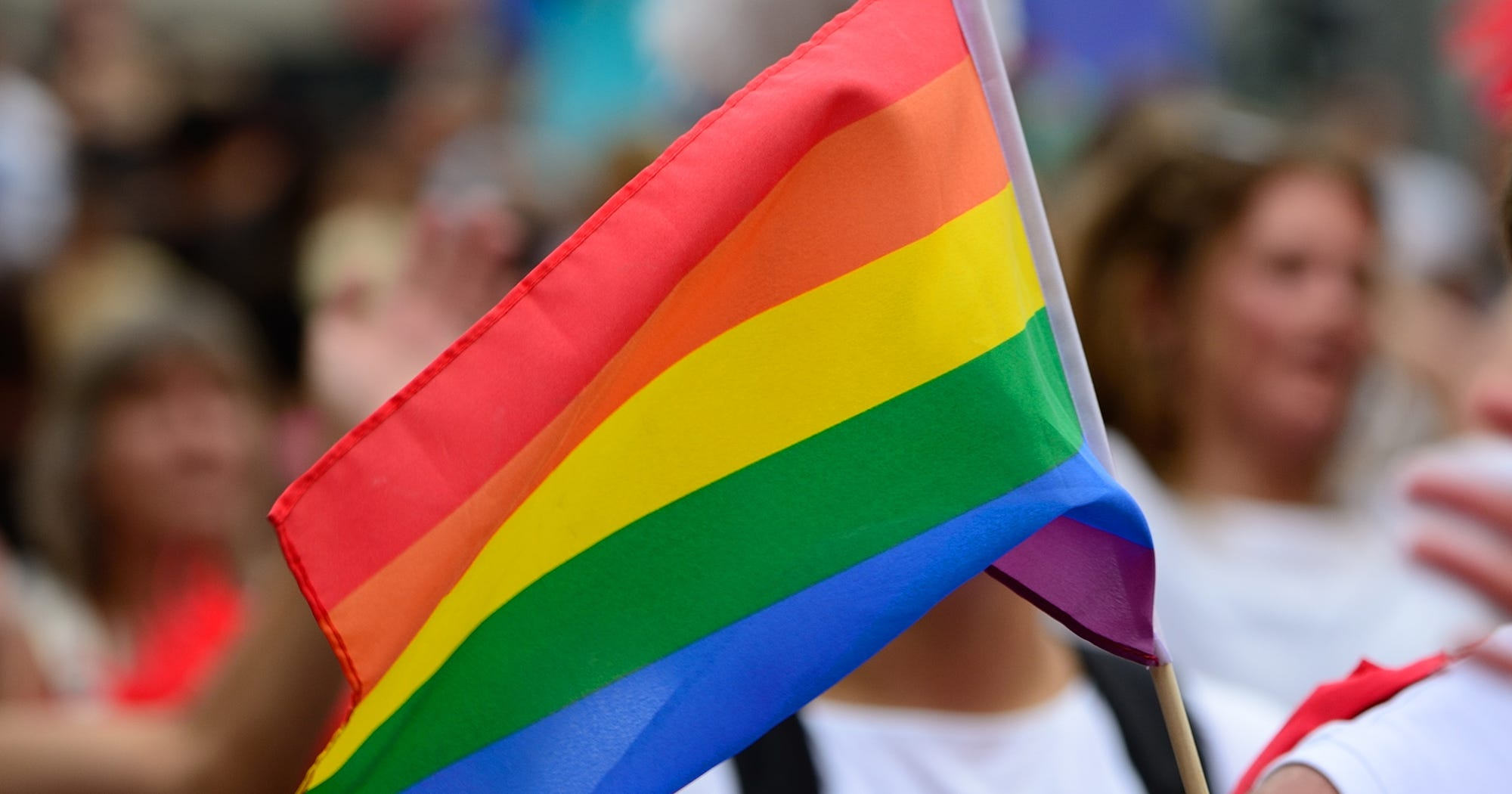 Philadelphia Pride Flag Rainbow Black Brown Stripes POC