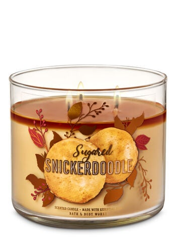 Bath Amp Body Works Sugared Snickerdoodle 3 Wick Candle