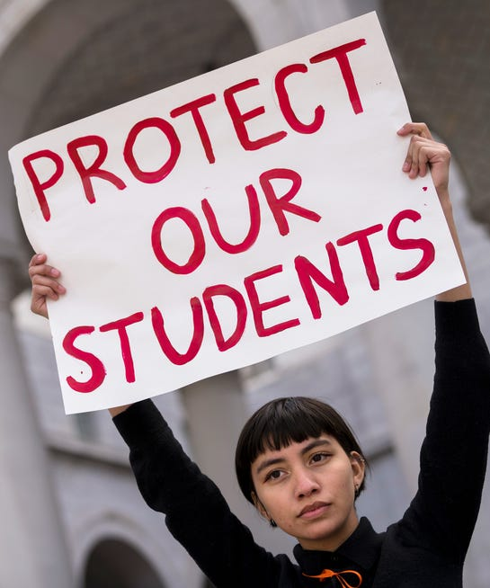 School Students Take To Streets To Protest Against Gun: Best Inspiring Signs National Walkout Day Gun Safety