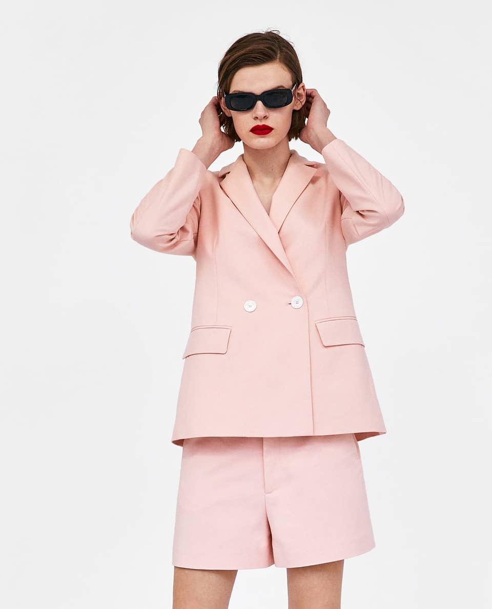 Womens Shorts Suit Business Casual Womens Shorts Women Pink Suit Set 2- Piece blazer /& Shorts Suit Set Office Suit Women\u2019s Gray Shorts