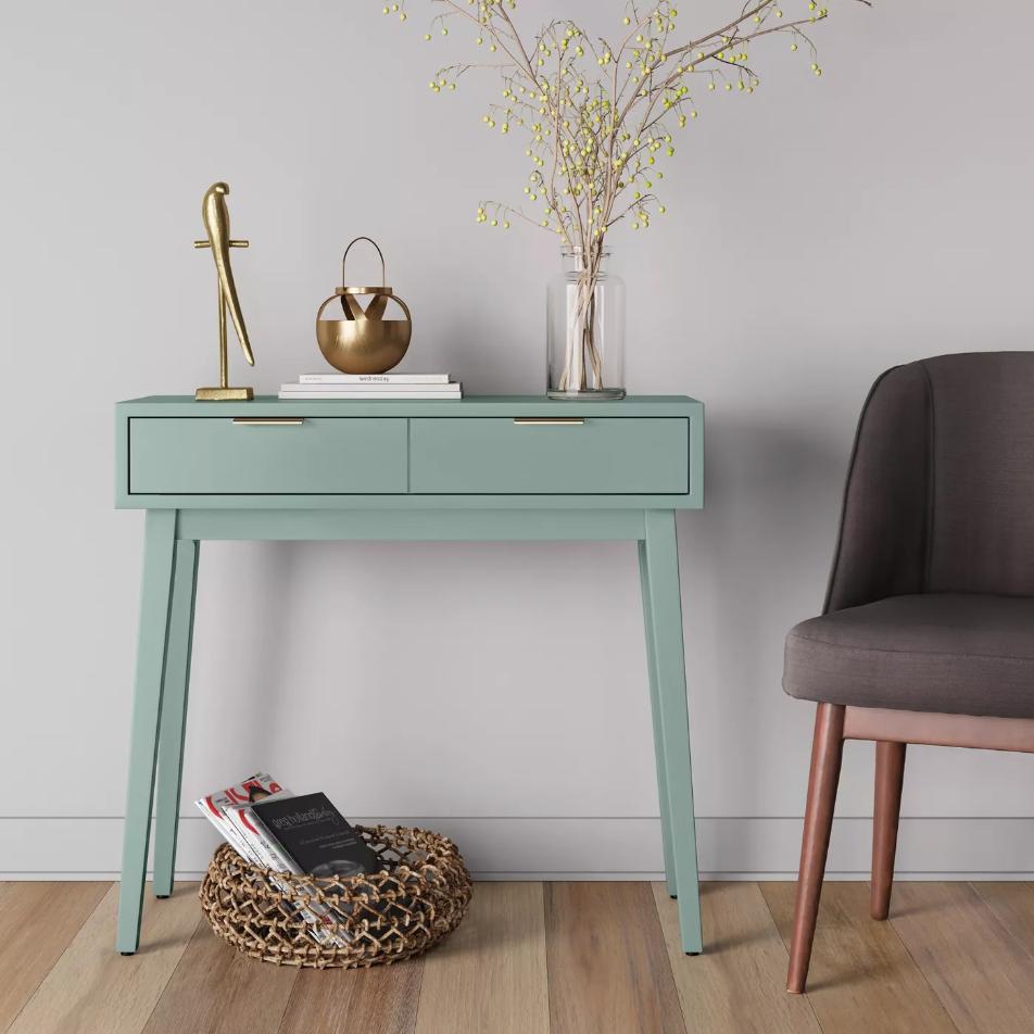 Miraculous Hafley Two Drawer Console Table Spiritservingveterans Wood Chair Design Ideas Spiritservingveteransorg