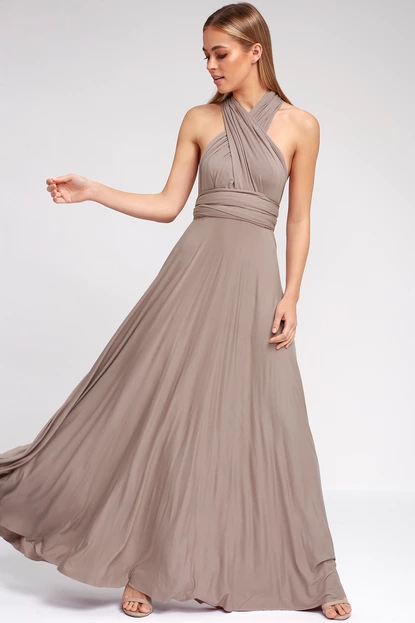 2ee7d101d9e Lulus + Tricks of the Trade Taupe Maxi Dress