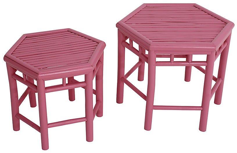One Kings Lane 2 Onesta Nesting Tables Pink