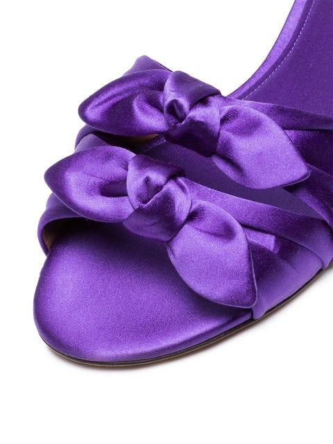 Tabitha Simmons Purple Cleo Satin sandals Discount Footaction CwuynjI