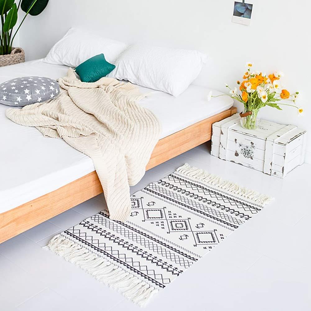 Ukeler + Ukeler Cotton Printed Boho Bathroom Rug