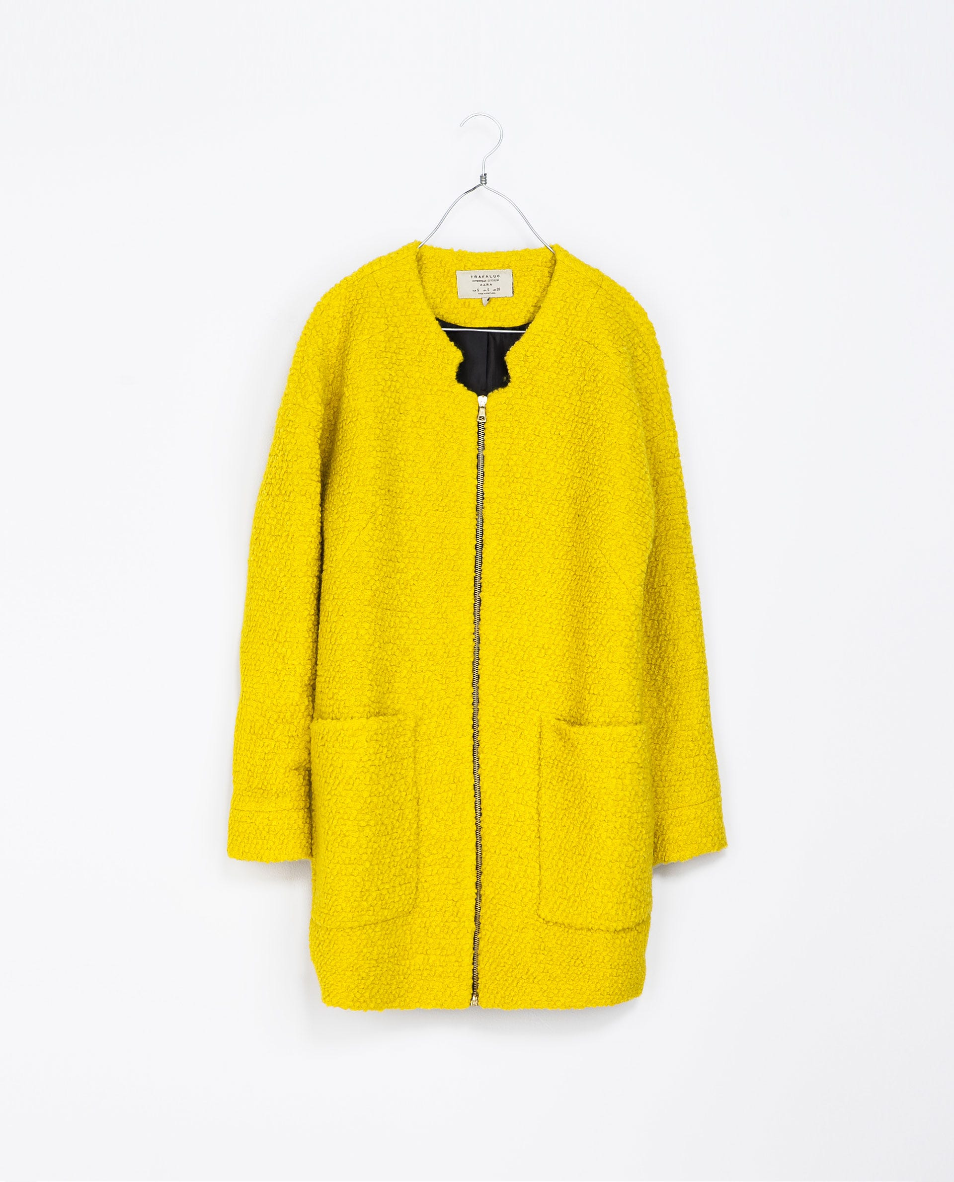 cc7649b9 Wool Coat With Center Zip