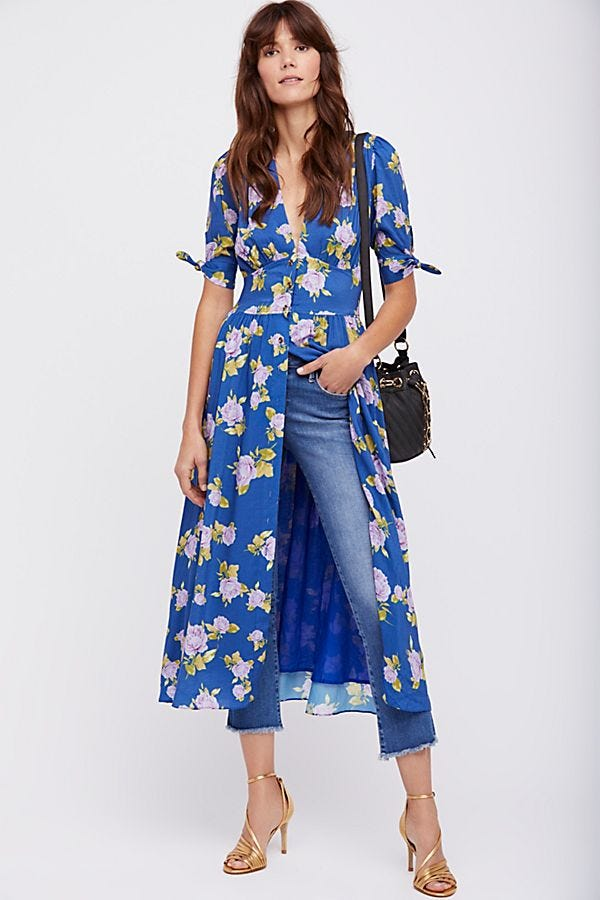 Free People + Printed Love of My Life Midi Dress