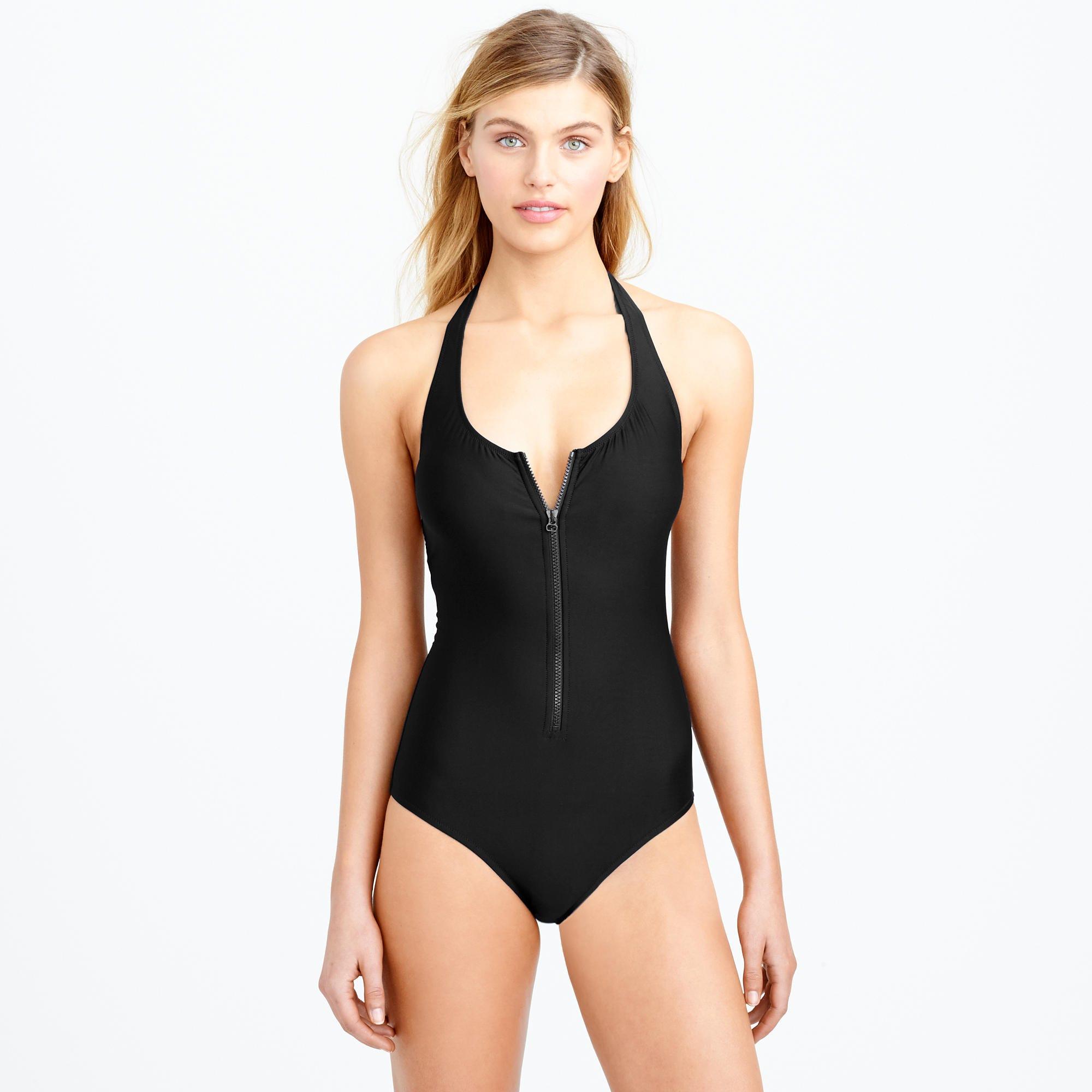 4cca264e7e255 J.Crew. Zip -front One-piece Swimsuit