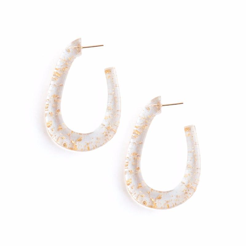 Clear Lucite Plastic Hoop Earrings For Summer 2018