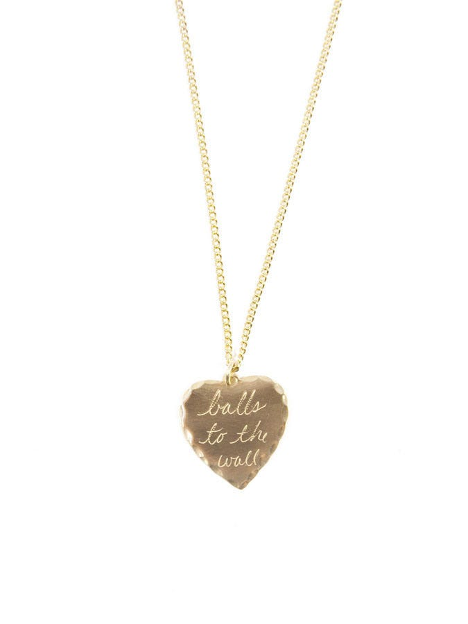 7506da2110f4e5 In God We Trust + 'Balls To The Wall' Sweet Nothing Necklace