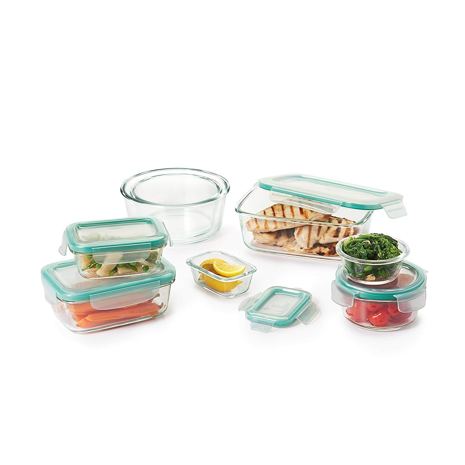 OXO Good Grips 16 Piece Smart Seal Leakproof Glass Set
